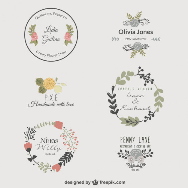 Vintage Rounded Floral Logo Template photo - 1